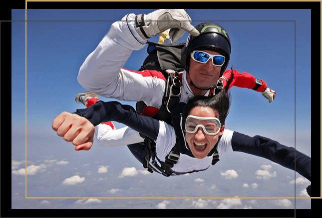 Lancio con paracadute tandem